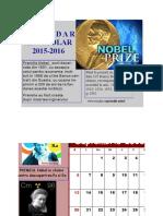 Calendar. Premii nobel