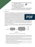 Balanço de massa e energia em processos químicos