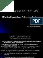 MÉTODOS QUANTITATIVOS -ProgramacaoLinear.ppt