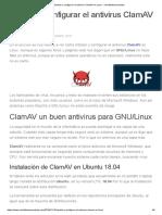 Instalar y configurar el antivirus ClamAV en Linux - ochobitshacenunbyte