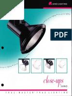 Juno Lighting Trac-Master Close-Ups Series Brochure 1996