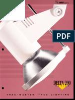 Juno Lighting Trac-Master Delta 200 Series Brochure 1994
