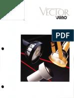 Juno Lighting Vector Track Lights Brochure 1995