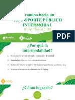 Intermodalidad del transporte público • PPT del concejal Daniel Carvalho