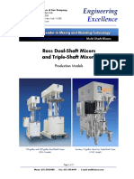 Engineering Excellence Ross Multi-Shaft Mixers (Production Models)
