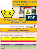 HSE 203 Area Classification and Electrical Safety