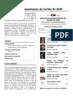 Elecciones Parlamentarias de Serbia de 2020