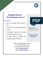 TUV Synopsis of Training Dubai