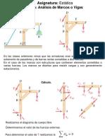Clase de fuerzas en marcos y Vigas
