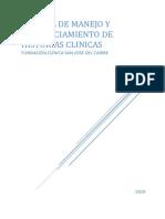 Manual de Manejo y Diligenciamiento del Historia Clínica