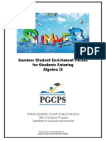 Algebra 2 Summer Student Enrichment Packet