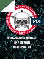 Listado comandos Básicos meterpreter SF