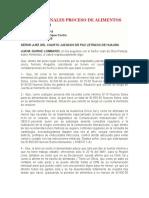 ALEGATOS FINALES PROCESO DE ALIMENTOS
