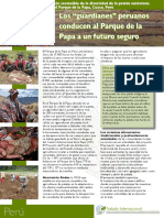 """Los """"guardianes"""" peruanos conducen al Parque de la Papa a un futuro seguro"""