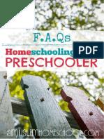 FAQ Homeschooling your preschooler