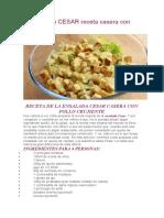 ENSALADA CESAR receta casera con pollo