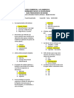 EVALUACION BIMESTRAL DE DANZA