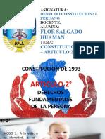 CONSTITUCION POLITICA DE 1993 ARTICULO 2