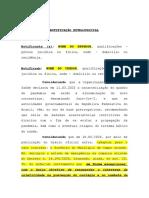 MODELO - NOTIFICAÇÃO EXTRAJUDICIAL - art. 916 CPC-