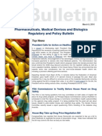 03 08 2010 Drugs & Devices Regulatory & Policy Bulletin - President Calls for A