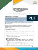 Guia de actividades y rúbrica de evaluación - Unidad 1 - Fase 2 - Dimension Personal y Familiar