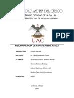 CIRUGIA GENERAL FISIOPATOLOGIA DE LA PANCREATITIS AGUDA