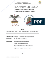 CIRUGIA GENERAL I - FISIOPATOLOGIA DE LITIASIS BILIAR