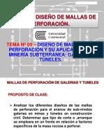 9.1 Diseño de mallas de perforación y su aplicación