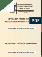 1.1,  Procesos de extracción de minerales