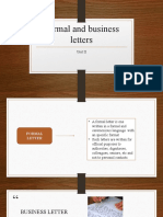Formal and business letters