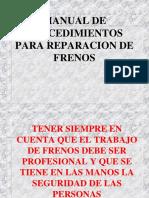 MANUAL DE PROCEDIMIENTOS PARA REPARACION DE FRENOS