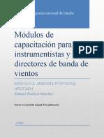 3 Módulos de capacitación para instrumentistas y directores de banda de vientos