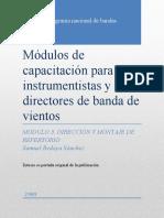 5 Módulos de capacitación para instrumentistas y directores de banda de vientos