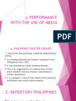 ORIGINAL PERFORMANCE WITH THE USE OF MEDIA