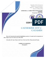 Certificate for RPMS