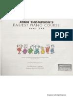 JHON THOMPSON easiest piano course