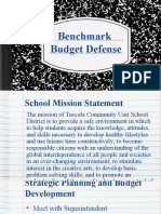 benchmark budget defense