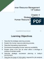 Chapter 4 Strategic Planning,Human Resource Planning & Job Analysis (1)