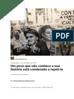 Um povo que não conhece a sua história está condenado a repeti-la - Justificando.com