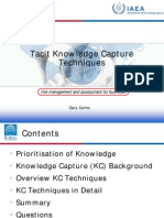 16 Tacit Knowledge Cairns)