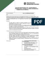 ANEXO 1 Declaración Responsable Del Deportista