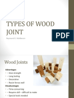 TYPES OF WOOD JOINT