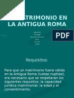 MATRIMONIO ROMANO