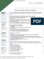2011, Computing 9691 Syllabus Changes - As & a Level Computing (9691 CIE Syl