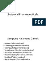 Botanical Pharmaceuticals