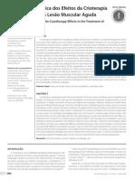 Análise Biomecânica dos Efeitos da Crioterapia