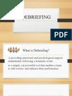 DEBRIEFING SESSION
