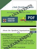 Hosting Safe Wedding - 2020
