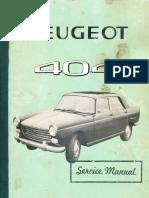peugeot 404 workshop manual