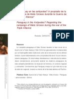 ¿Paraguay en las antípodasʔ A propósito de la campaña de Mato Grosso durante la Guerra de la Triple Alianza